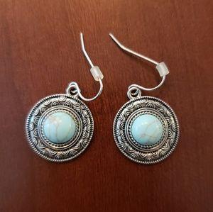 Turquoise circular earrings